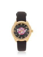 KATE SPADE KSW1148 Record Crosstown Turn it Up Leather Black