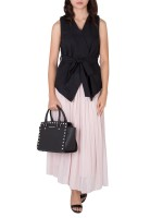 MICHAEL KORS Selma Studded Medium Leather Satchel Black