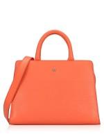 AIGNER Cybill Leather Medium Satchel Orange