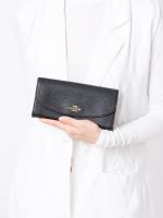 COACH 54009 Crossgrain Leather Slim Envelope Wallet Black