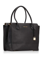 MICHAEL KORS Mercer Large Leather Satchel Black