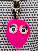 KATE SPADE Faux Fur Charms Monster Pink