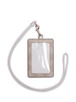 COACH 63274 Signature ID Lanyard Light Khaki Chalk