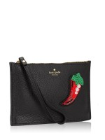 KATE SPADE On Purpose Novelty Mini Pouch Black Cement