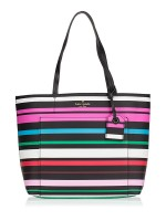 KATE SPADE Harding Street Stripe Small Riley Black Multi