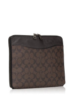COACH 64562 Signature iPad Sleeve Mahogany Brown