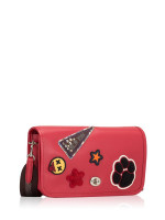 COACH 20912 Varsity Patches Leather Penny Crossbody True Red