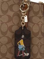 COACH 58504 Bonnie Key Chain Black Brown