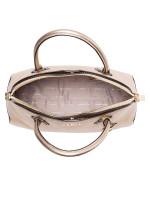 MICHAEL KORS Mercer Leather Large Dome Satchel Pale Gold