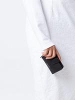 MICHAEL KORS Warren Leather Key Zip Wallet Black