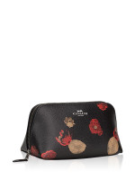 COACH 56001 Halftone Floral Cosmetic Case Black Multi