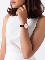 COACH 14502125 Boyfriend Chronograph Leather Strap Black Rosegold