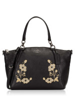 COACH 12007 Floral Embroidery Small Kelsey Black