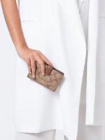 COACH 23553 Signature Medium Wallet Khaki Saddle
