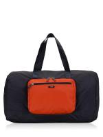 TUMI Men Packable Duffle Zip Travel Navy Orange