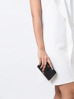 COACH 11484 Crossgrain Medium Corner Zip Wallet Black