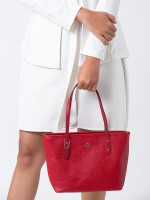 COACH 22967 Mini City Zip Tote True Red