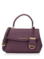 MICHAEL KORS Ava Extra Small Leather Crossbody Damson