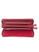 COACH 23334 Crossgrain Double Zip Travel Wallet True Red