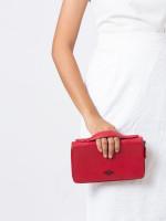 COACH 23334 Crossgrain Double Zip Travel Wallet True Red