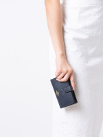 COACH 11484 Crossgrain Leather Medium Wallet Midnight