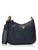 PRADA 1BC052 Vitello Daino Shoulder Bag Baltico