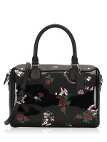 COACH 25856 Cross Stitch Patent Mini Bennet Black Multi