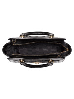 MICHAEL KORS Vivianne Quilted Patent Small Top Zip Messenger Black