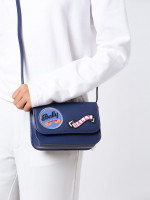 BALLY Leather Patches Small Crossbody Navy