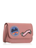 BALLY Leather Patches Small Crossbody Pink
