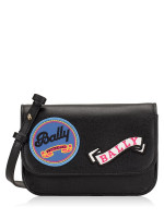 BALLY Leather Patches Small Crossbody Onyx