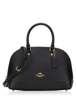 COACH 27591 Crossgrain Mini Sierra Satchel Black