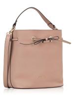 FURLA Costanza Leather Bucket Bag Moonstone