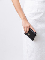 COACH 87588 Crossgrain Leather Small Wallet Black