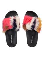 STEVE MADDEN Softey Slide Sandal Black Multicolor Sz 8