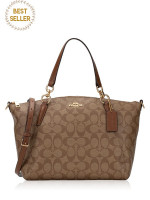 COACH 28989 Signature Small Kelsey Khaki Saddle