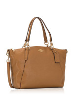 COACH 28993 Pebbled Leather Small Kelsey Light Saddle