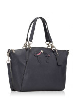 COACH 28969 Leather Small Kelsey With Bow Midnight