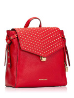 MICHAEL KORS Bristol Studded Leather Medium BackpacK Bright Red