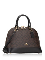 COACH 27584 Signature Sierra Satchel Brown Black