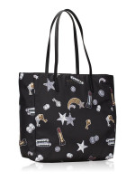 MARC JACOBS Shooting Star Patch Shopper Black Multi