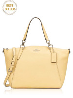 COACH 31075 Pebbled Leather Small Kelsey Vanilla