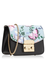 FURLA Metropolis My Play Interchangable Flap Mini Crossbody Black