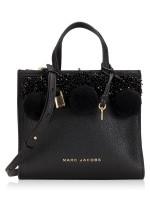 MARC JACOBS M0013368 The Beads & Pompoms Mini Grind Satchel Black
