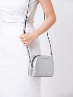 MARC JACOBS Playback Leather Crossbody Silver