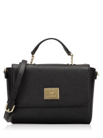 AIGNER Saffiano Flap Crossbody Black