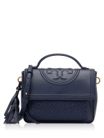 TORY BURCH Fleming Leather Satchel Royal Navy