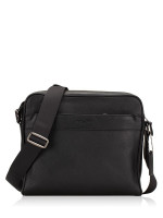 COACH Men 24876 Pebbled Leather Charles Camera Bag Black