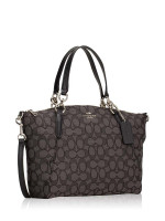 COACH 27582 Outline Signature Small Kelsey Black Smoke
