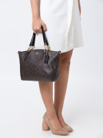 COACH 28989 Signature Small Kelsey Brown Black